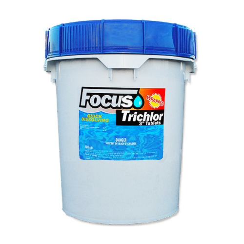 "Focus - 3"" Stabilized Chlorine Tablets - 40lbs."